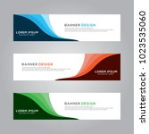 abstract modern banner...   Shutterstock .eps vector #1023535060
