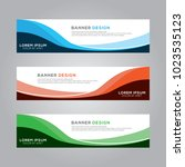 abstract modern banner... | Shutterstock .eps vector #1023535123