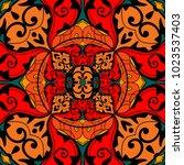 ethnic geometric print.... | Shutterstock .eps vector #1023537403