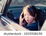 portrait of pretty asian little ... | Shutterstock . vector #1023538150