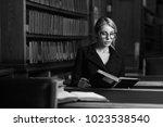 young beautiful elegant blonde... | Shutterstock . vector #1023538540