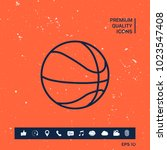 basketball ball line icon | Shutterstock .eps vector #1023547408