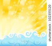 summer background | Shutterstock .eps vector #102355120