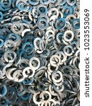 steel spring washer backgrounds | Shutterstock . vector #1023553069