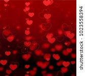 valentine day background design ...   Shutterstock . vector #1023558394