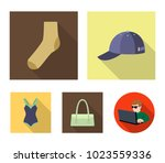 cap  sock  hat  bag and other... | Shutterstock .eps vector #1023559336