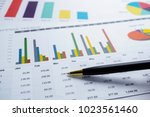 charts graphs paper. financial... | Shutterstock . vector #1023561460