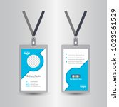 staff blue user id card... | Shutterstock .eps vector #1023561529