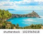 beautiful summer sea landscape...   Shutterstock . vector #1023565618
