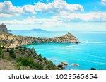 beautiful summer sea landscape...   Shutterstock . vector #1023565654