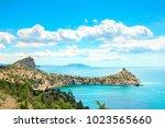 beautiful summer sea landscape...   Shutterstock . vector #1023565660