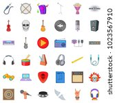 euphony icons set. cartoon set... | Shutterstock .eps vector #1023567910