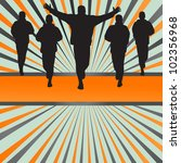 silhouettes of runners vector...