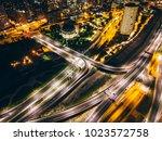 aerial shot of a big... | Shutterstock . vector #1023572758
