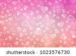 Stock vector light pink vector layout with sweet hearts illustration with hearts in love concept for valentine 1023576730