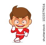 clipart picture of a superhero... | Shutterstock .eps vector #1023579016