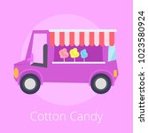 cotton candy  shopping store in ... | Shutterstock .eps vector #1023580924