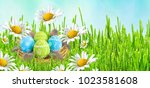 easter card. painted easter...   Shutterstock . vector #1023581608