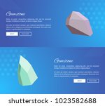 gemstone landing pages design... | Shutterstock .eps vector #1023582688