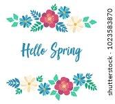 hello spring typography poster... | Shutterstock .eps vector #1023583870