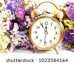 Alarm Clock With Dried Flower...