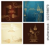 set of four beautiful golden... | Shutterstock .eps vector #102358873
