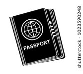 vector passport icon | Shutterstock .eps vector #1023590248