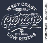 west coast garage low riders  ... | Shutterstock .eps vector #1023594688