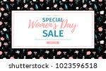 banner for sale international ... | Shutterstock .eps vector #1023596518