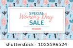 banner for sale international ... | Shutterstock .eps vector #1023596524