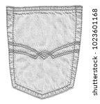 white jeans back pocket... | Shutterstock . vector #1023601168