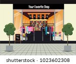 shopping in clothing store....   Shutterstock .eps vector #1023602308