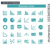 business growing chart icon set | Shutterstock .eps vector #1023603826