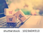 online shopping   ecommerce and ... | Shutterstock . vector #1023604513