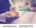 online shopping   ecommerce and ... | Shutterstock . vector #1023606790