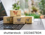 online shopping   ecommerce and ... | Shutterstock . vector #1023607834
