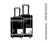 travel luggage flat icon | Shutterstock .eps vector #1023610210