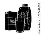 juice and milk flat icon | Shutterstock .eps vector #1023610330