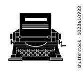 typewriter machine icon | Shutterstock .eps vector #1023610933