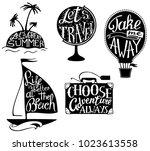 vector hand drawn print set... | Shutterstock .eps vector #1023613558