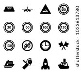 solid vector icon set   taxi...   Shutterstock .eps vector #1023613780