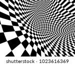 abstract illusion. geometric... | Shutterstock . vector #1023616369