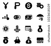 solid vector icon set   yen...