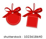 empty red sale tag for your... | Shutterstock .eps vector #1023618640