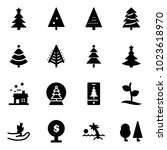solid vector icon set  ... | Shutterstock .eps vector #1023618970