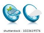 mints gum package design  open... | Shutterstock .eps vector #1023619576