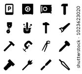 solid vector icon set   parking ... | Shutterstock .eps vector #1023623020
