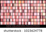 gold rose gradient set... | Shutterstock .eps vector #1023624778