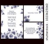 vintage delicate invitation... | Shutterstock .eps vector #1023625060