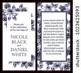 vintage delicate invitation... | Shutterstock .eps vector #1023625093